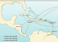 Christopher Columbus' three subsequent voyages