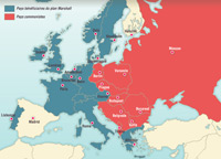 Europe is divided in two after the Second World War