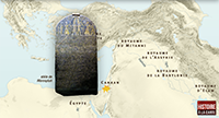 Canaan, a small territory surrounded by great empires