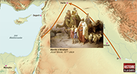 Geographical map for the Saga of Abraham